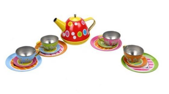 набор посуды Наша Игрушка Набор металлической посуды металлическая игровой набор металлической посуды чудесное чаепитие melala