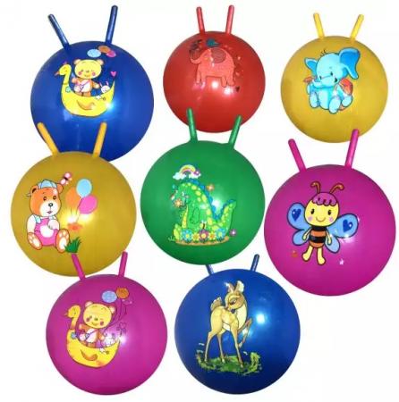 Мяч-попрыгун Наша Игрушка Забавные животные ПВХ с рожками цвет в ассортименте мяч попрыгун z sports с рожками 45 см