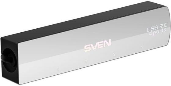 USB-концентратор SVEN HB-891, black (USB 2.0, 4 порта, кабель 0,05м, блистер) все цены