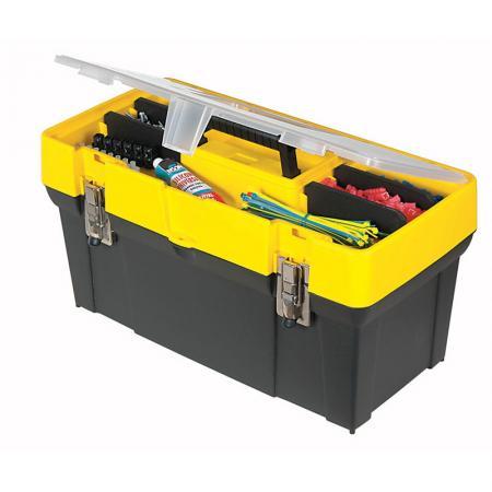 Stanley ящик для инструмента с органайзером в крышке пластмассовый (19061) 19 / 49,3 х 25,6 х 24,8с ящик для инструмента fit 65620 алюминиевый 43 х 31 х 13 см