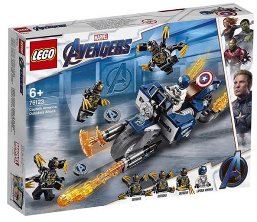 Купить Конструктор LEGO Капитан Америка: Атака Аутрайдеров 167 элементов, Детские конструкторы