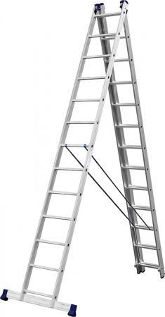 Лестница СИБИН универсальная,трехсекционная со стабилизатором, 13 ступеней цены онлайн