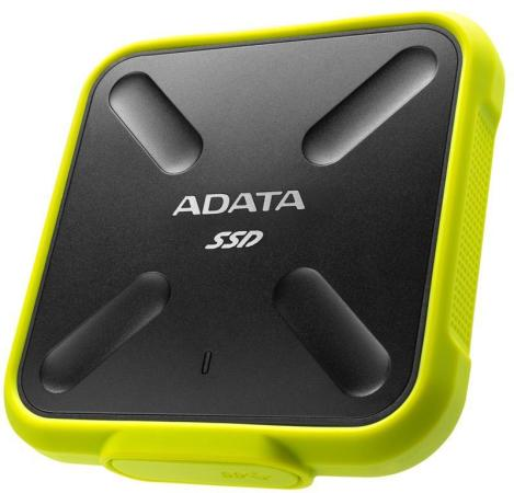 Твердотельный диск 512GB A-DATA SD700, External, USB 3.1, [R/W -440/430 MB/s] 3D-NAND, желтый твердотельный диск 240gb a data ultimate su630 2 5 sata iii [r w 520 450 mb s] 3d qlc