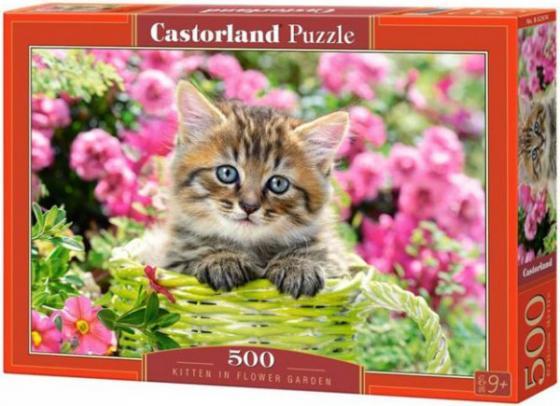 Пазл 500 элементов Кастор Котенок в саду пазл 55 элементов кастор времена года
