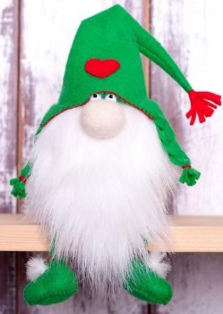 """Набор для изготовления текстильной игрушки Перловка """"Зеленый гном"""" набор для изготовления игрушки феникс набор для изготовления игрушки"""