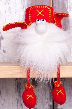 """Набор для изготовления текстильной игрушки Перловка """"Гном в ушанке"""" набор для изготовления игрушки феникс набор для изготовления игрушки"""