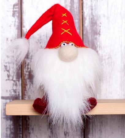 """Набор для изготовления текстильной игрушки Перловка """"Красный гном"""" набор для изготовления игрушки феникс набор для изготовления игрушки"""
