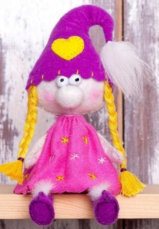 """Набор для изготовления текстильной игрушки Перловка """"Гномочка"""" набор для изготовления игрушки феникс набор для изготовления игрушки"""