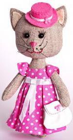"""Набор для изготовления текстильной игрушки Перловка """"Тётя Кошка"""" набор для изготовления игрушки феникс набор для изготовления игрушки"""