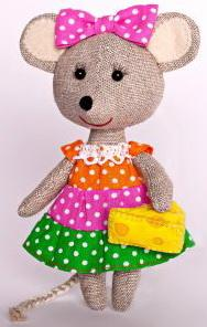 Набор для изготовления текстильной игрушки Перловка Мышка-Норушка набор для изготовления игрушки феникс набор для изготовления игрушки