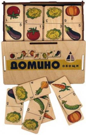 Домино Овощи цвет, коробка