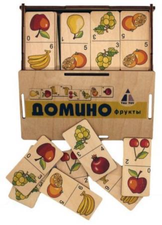 Настольная игра домино TAU TOY Домино Фрукты classic игра настольная classic домино пластик st023