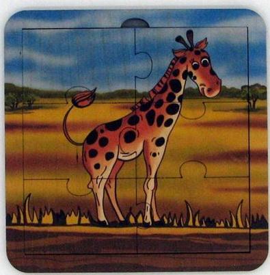 Пазл деревянный Жираф 6 дет.,14х14 см пазл деревянный жираф 6 дет 14х14 см