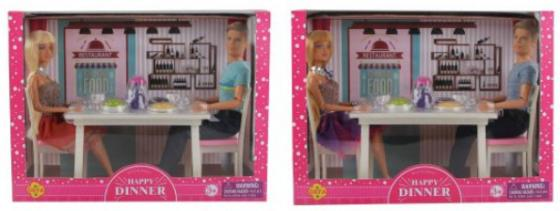 Купить Набор кукол Defa Ужин 30 см шарнирная, Классические куклы и пупсы