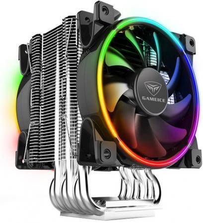 Кулер PCCooler GI-R68X CORONA RGB LGA2066/2011/20XX/TR4/SP3 (8 шт/кор, TDP 300W, 2x120mm PWM SilentPro RGB FAN, 6 тепловых трубок 8мм, 1000-2200RPM, 31,4dBa)