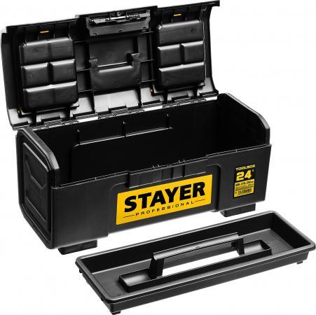 Ящик для инструмента TOOLBOX-24 пластиковый, STAYER Professional ящик для инструмента stayer standard vega 12 пластиковый с органайзерами 38105 13 z02