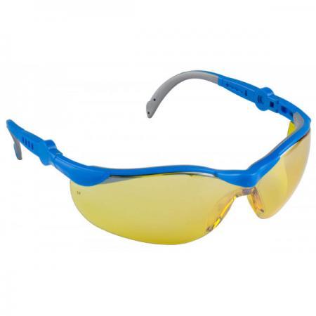 """Очки ЗУБР """"ЭКСПЕРТ"""" защитные, желтые с двухкомпонентными регулируемыми дужками стоимость"""