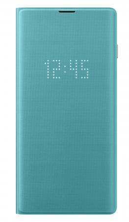 цена на Чехол (флип-кейс) Samsung для Samsung Galaxy S10 LED View Cover зеленый (EF-NG973PGEGRU)