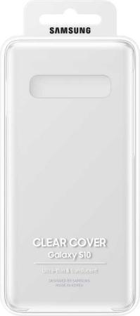 Чехол (клип-кейс) Samsung для Samsung Galaxy S10 Clear Cover прозрачный (EF-QG973CTEGRU) чехол для смартфона samsung для galaxy s7 clear cover черный прозрачный ef qg930cbegru ef qg930cbegru