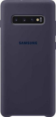 Чехол (клип-кейс) Samsung для Samsung Galaxy S10+ Silicone Cover темно-синий (EF-PG975TNEGRU) чехол клип кейс samsung для samsung galaxy note 9 silicone cover синий ef pn960tlegru