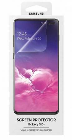 Защитная пленка для экрана Samsung ET-FG975CTEGRU для Samsung Galaxy S10+ прозрачная 2шт. стоимость