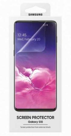 Защитная пленка для экрана Samsung ET-FG973CTEGRU для Samsung Galaxy S10 прозрачная 2шт. стоимость