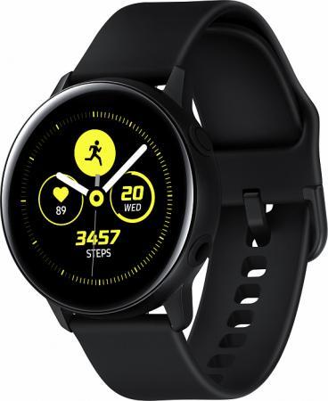 Фото - Смарт-часы Samsung Galaxy Watch Active 39.5мм 1.1 Super AMOLED черный (SM-R500NZKASER) часы samsung galaxy watch active sm r 500 n зелёный