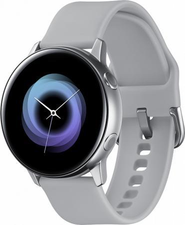 Смарт-часы Samsung Galaxy Watch Active 39.5мм 1.1 Super AMOLED серебристый (SM-R500NZSASER) смарт часы samsung galaxy gear s3 frontier sm r760 1 3 super amoled темно серый sm r760ndaaser