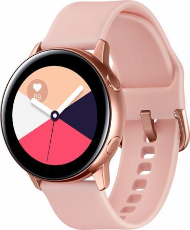 """Смарт-часы Samsung Galaxy Watch Active 39.5мм 1.1"""" Super AMOLED розовое золото (SM-R500NZDASER) goowiiz очистить розовое золото samsung galaxy c5"""