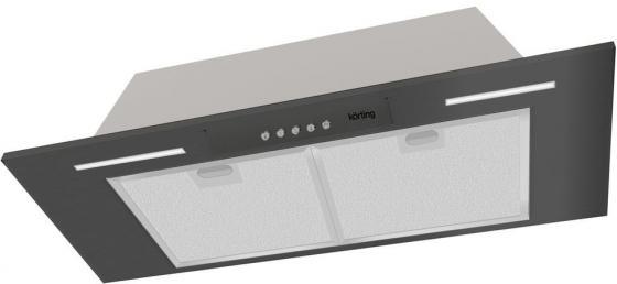 Встраиваемые вытяжки Korting/ Полностью встраиваемая(блок), в шкаф 90см, механическое управление, 3 режима, 950 м3/ч., алюминиевый жировой фильтр, LED освещение, ур.шума 56 дб, цвет - черный