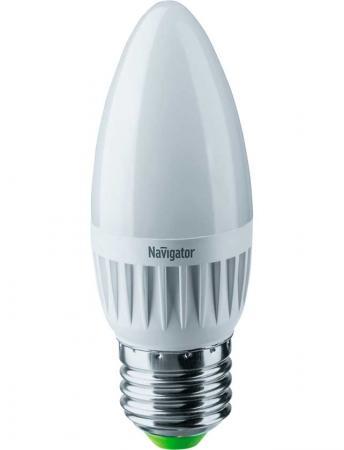 Лампа светодиодная свеча Navigator NLL-C37-7-230-2.7K-E27-FR (94 493) E27 7W 2700K лампа светодиодная свеча navigator nll c37 7 230 2 7k e27 fr 94 493 e27 7w 2700k