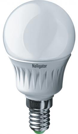 Лампа светодиодная шар Navigator NLL-G45-7-230-4K-E14 ( 94 468) E14 7W 4000K лампа светодиодная шар navigator nll g45 1 230 y e27 e27 1w 71830