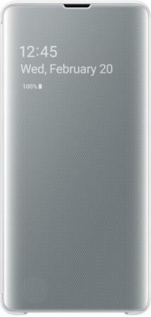 Чехол (флип-кейс) Samsung для Samsung Galaxy S10+ Clear View Cover белый (EF-ZG975CWEGRU)