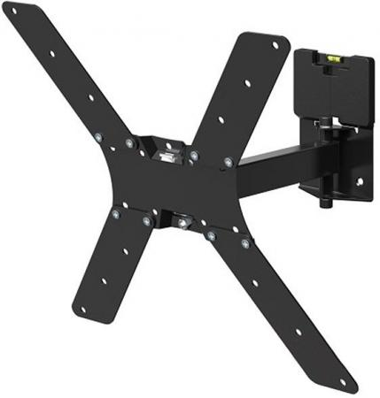 """Кронштейн для телевизора Holder LCD-5520-B черный 32""""-55"""" макс.45кг настенный поворотно-выдвижной и наклонный"""