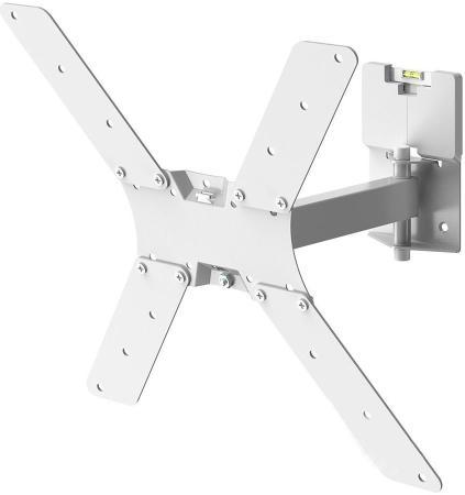 """Кронштейн для телевизора Holder LCD-5520-W белый 32""""-55"""" макс.45кг настенный поворотно-выдвижной и наклонный"""