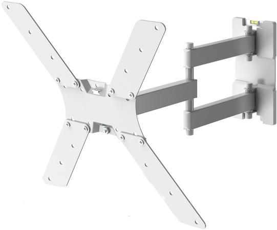"""Кронштейн для телевизора Holder LCD-5566-W белый 32""""-55"""" макс.45кг настенный поворотно-выдвижной и наклонный"""