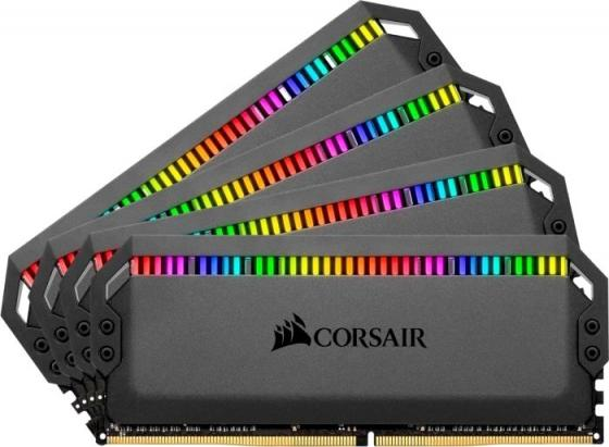 Память DDR4 4x16Gb 3000MHz Corsair CMT64GX4M4C3000C15 RTL PC4-24000 CL15 DIMM 288-pin 1.35В kit цена и фото