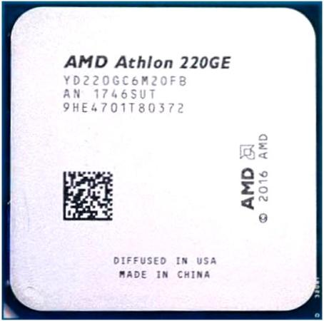 цена на Процессор AMD Athlon 220GE AM4 (YD220GC6M2OFB) (3.4GHz/100MHz/Radeon Vega 3) Tray