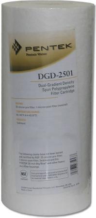 BB DGD-2501 Картридж Pentek мех. очистки двухступенчатый 25/01 мкм, ВВ10 вспененный полипропилен