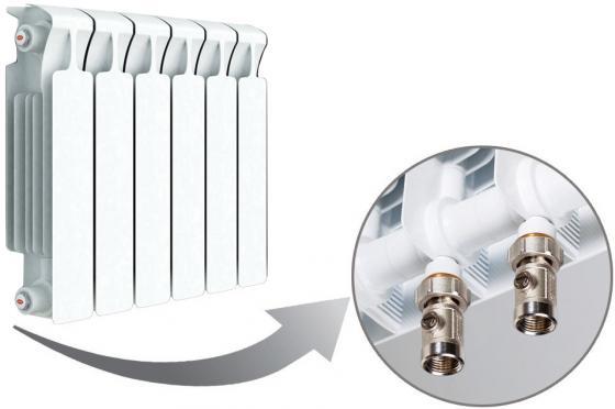 Радиатор RIFAR Monolit 350 х 6 сек НП прав (MVR) 50мм