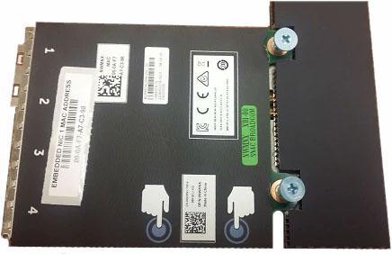 Адаптер Dell 540-BBUR Broadcom 57412 10Gbit SFP+ 2-port 5720 1Gbit Base-T rNDC адаптер dell broadcom 57840s qp 10gb sfp daughter card 540 11381