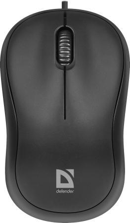 Мышь проводная Defender Patch MS-759 чёрный USB 52759 мышь проводная defender ms 940 чёрный usb