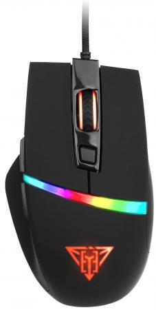 Игровая мышь Qumo Dragon Eye M54 [24125] {проводная, оптическая, 6 кнопок, прогр., подсветка 5 цветов flowing 800/1600/2400/3200 dpi} цена и фото