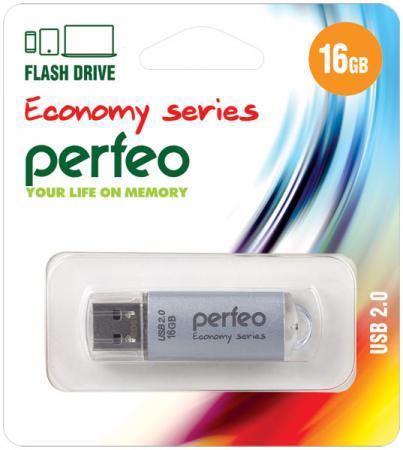 Фото - Флешка 16Gb Perfeo E01 USB 2.0 серебристый PF-E01S016ES флешка perfeo m01 64gb black