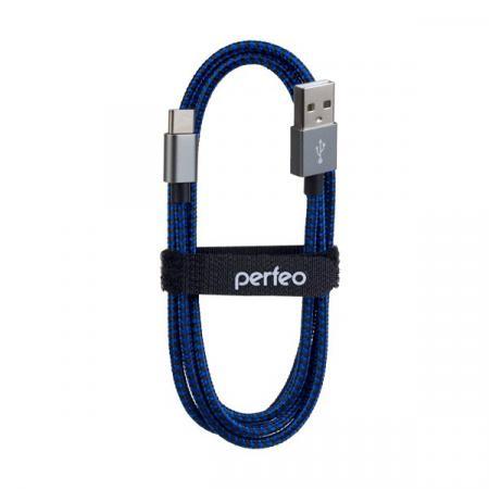 Фото - Кабель Type-C 1м Perfeo U4903 круглый черный/синий кабель type c 1м perfeo u4704 круглый белый