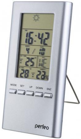 """Часы-метеостанция """"Meteo"""", чёрный,(PF-S3331F) время, темп., датчик ул. темп., влажность"""