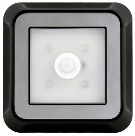 Smartbuy SBF-4-K Светодиодный фонарь с датчиком движения 4 LED 4AAA, черный smartbuy sbf 88 y аккумуляторный светодиодный фонарь 7 8 led с прямой зарядкой желтый