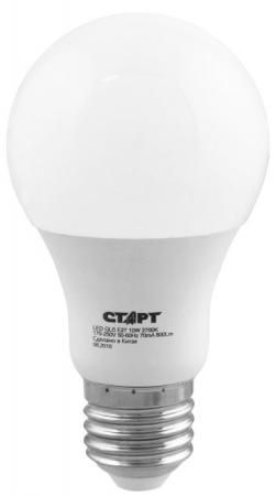 СТАРТ (4680024817936) Светодиодная лампа. Форма - груша. Теплый белый свет. LEDGLSE27 10W27 (К)