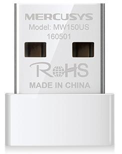 Сетевой адаптер WiFi Mercusys MW150US USB 2.0 (ант.внутр.) 1ант. все цены