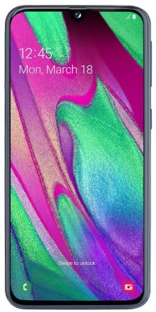 Смартфон Samsung Galaxy A40 черный 5.9 64 Гб NFC LTE Wi-Fi GPS 3G Bluetooth SM-A405FZKGSER смартфон asus zenfone max pro zb602kl черный 6 32 гб nfc lte wi fi gps 3g 90ax00t1 m00050